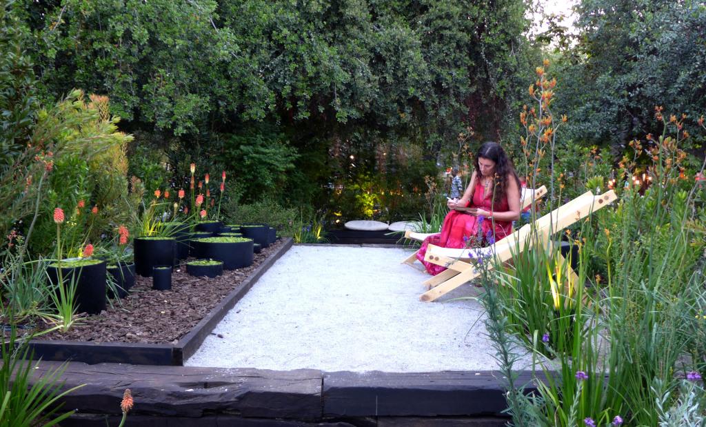 Bellos espacios crearon paisajistas en la Feria Jardinera 2014
