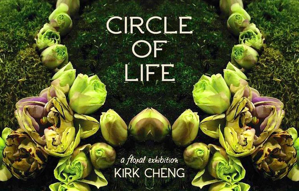 """""""The Circle of Life"""" instalación floral que reflexiona acerca de las etapas de la vida"""