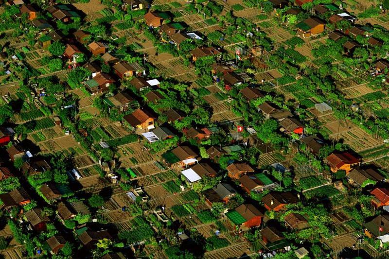 En una ciudad de Suiza cada habitante tiene su propio huerto
