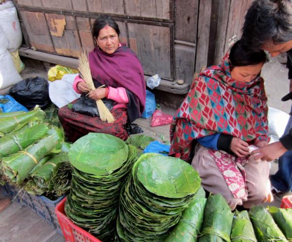 Los Platos Desechables de Nepal hechos con Hojas