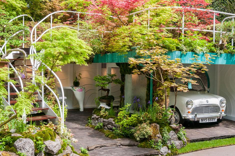 Senri-Sentei: Un Jardín Garaje Diseñado por Kazuyuki  Ishihara