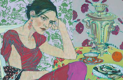 Las interesantes pinturas de mujeres contemporáneas de la artista Hope Gangloff