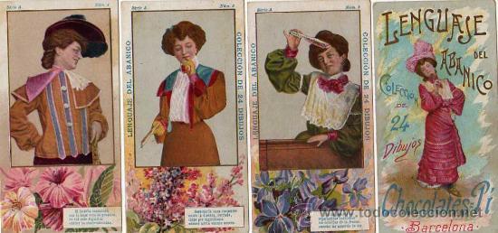 Bella colección de Cromos de Flores y Mujeres