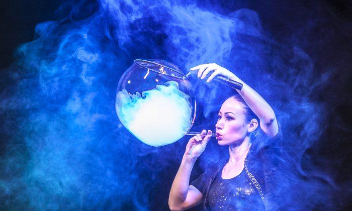 Las mágicas burbujas de Melody Yang  , impresionante!!