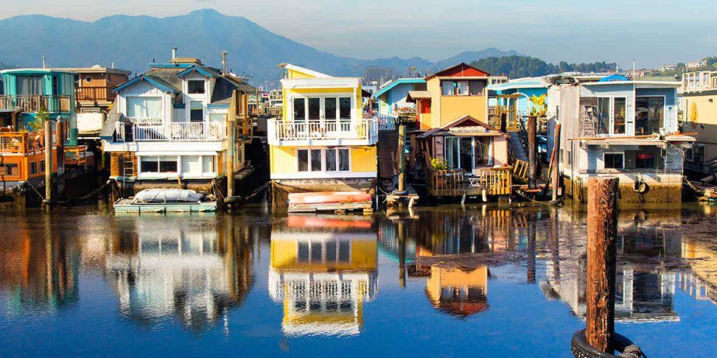 Las surreales casas flotantes de Sausalito en California