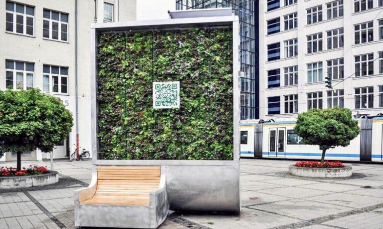 CityTree, panel de musgo que absorbe la contaminación como si fuese 275 árboles