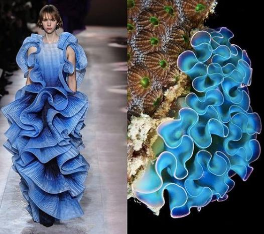 Increíbles imágenes donde podemos ver como la moda se inspira en la naturaleza
