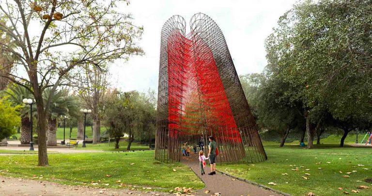 """""""Dionaea"""" es la escultura ganadora para el primer monumento en homenaje a las mujeres de Chile"""